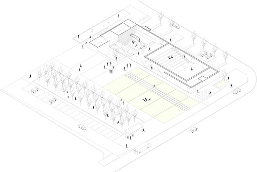 Scheme of the plaza