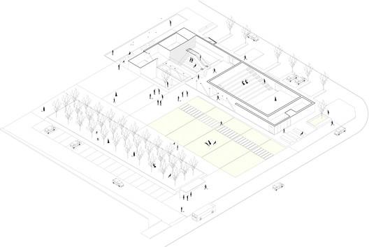 Scheme of the plaza