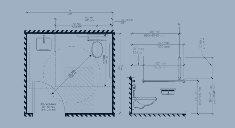 Design Accessible Bathrooms For All With This Ada Restroom Guide Archdaily