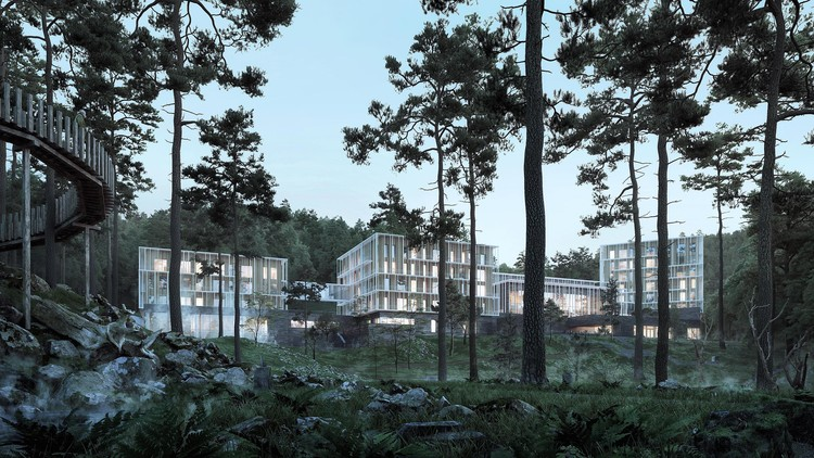 Henning Larsen Release New Renders of Their Luxurious Spa Hotel in the Georgian Mountains, Courtesy of Henning Larsen Architects