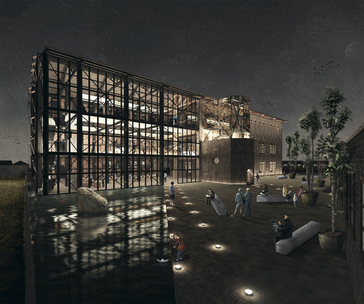 Tercer Año—Primer Lugar: Ex-Instituto Zambrano / Ignacio Segura + Carolaine Muñoz. Image Cortesía de Arquitectura Caliente