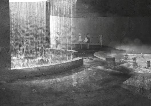 Segundo Año—Mención Honrosa: Cavernas Gravitatorias / Macarena Oyarzún. Image Cortesía de Arquitectura Caliente