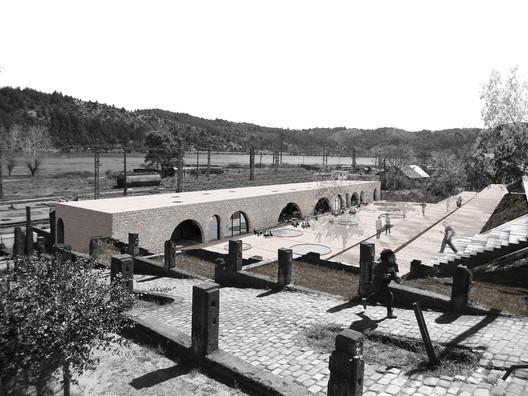 Tercer Año—Mención Honrosa: Corredor Cultural San Rosendo / Sebastián Flores San Juan + Matías Ulloa. Image Cortesía de Arquitectura Caliente