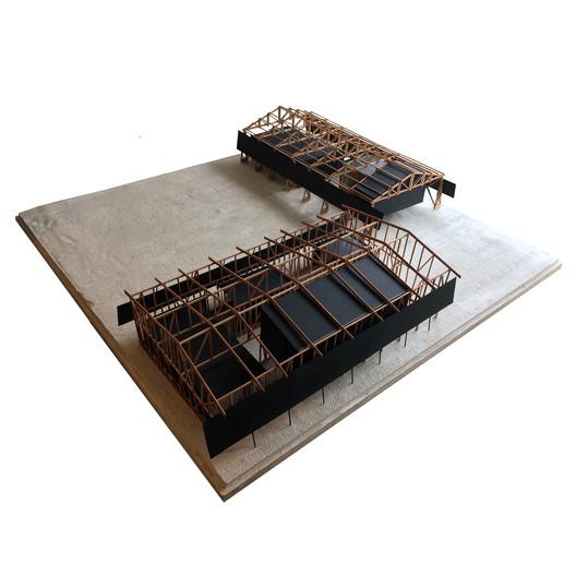 Cuarto + Quinto Año—Mención Honrosa: Centro Estudios Lácteos / Vicente Arancibia. Image Cortesía de Arquitectura Caliente