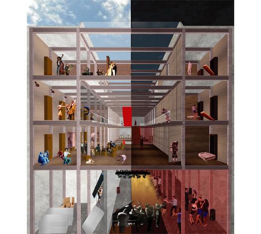 Distinciones—Mención Zona Centro: Unidad Social / Benjamín Sierra + Mack Riffo. Image Cortesía de Arquitectura Caliente