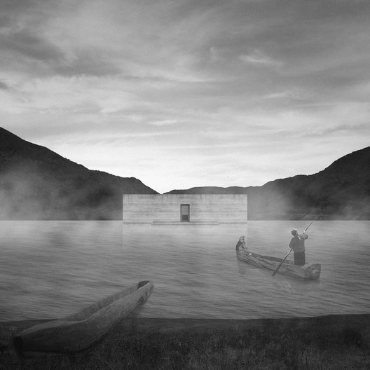 Título—Ganador: El cementerio flotante / Fabián Leiva Cortés. Image Cortesía de Arquitectura Caliente