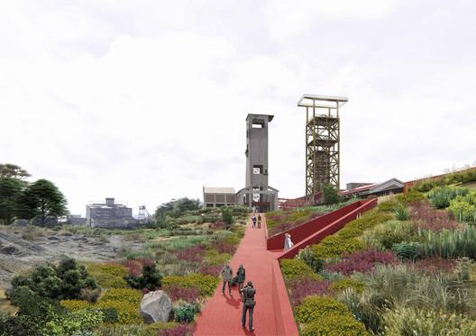 Título—Ganador: Parque Cultural Ruinas de Chambeque / Nicolás Moraga. Image Cortesía de Arquitectura Caliente