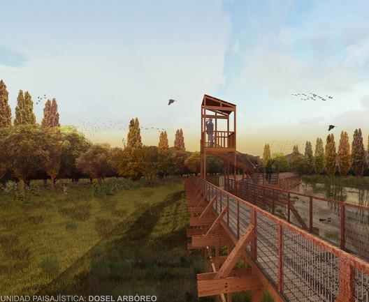 Título—Ganador: Ruta de las aves / Milena Lara. Image Cortesía de Arquitectura Caliente