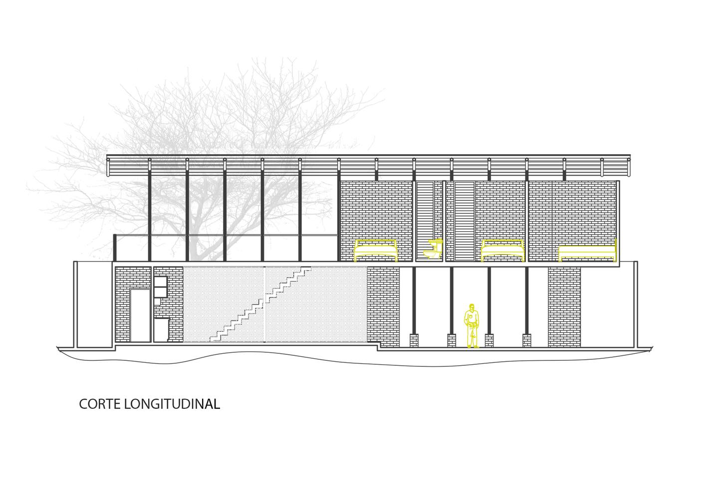 Gallery of stilts house natura futura arquitectura 22 stilts houselongitudinal section malvernweather Image collections