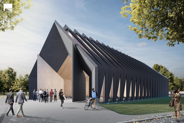 MIT's Mass Timber Longhouse Shows a Technology-Driven Approach to Sustainable Design, Courtesy of MIT Mass Timber Design