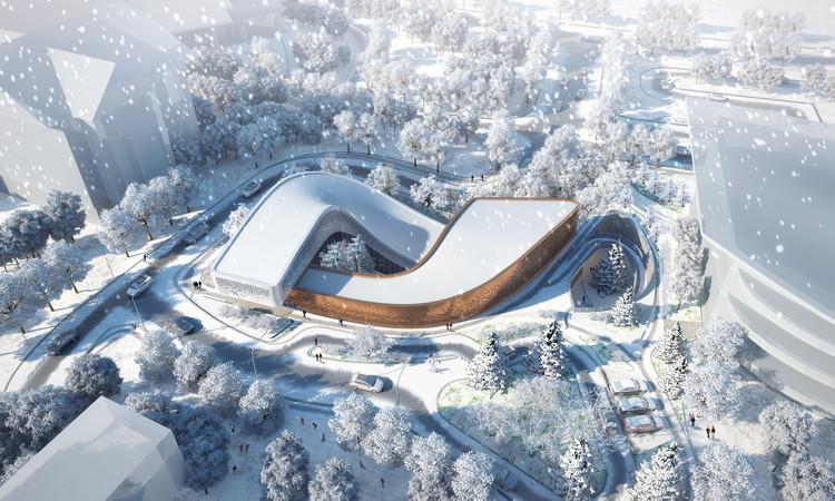 Proposta de GroupGSA para centro de informações e recepção dos Jogos Olímpicos de Inverno de 2022 na China, Cortesia de GroupGSA