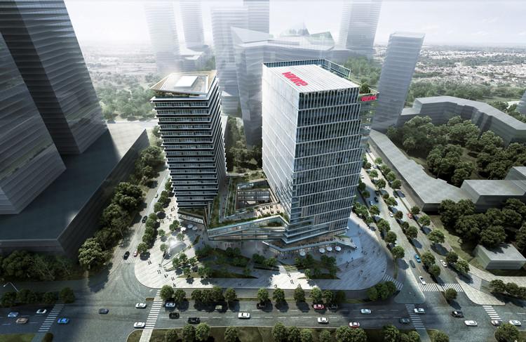 LWK & Partners projeta complexo de uso misto ao lado da sede dos Jogos Asiáticos de 2022, Cortesia de LWK & Partners (HK)