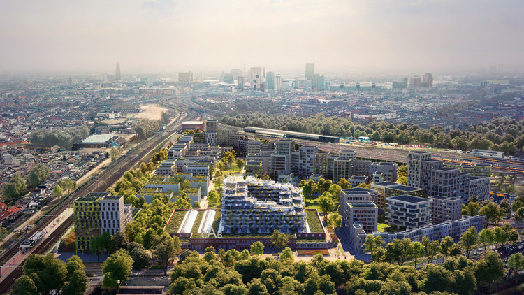 "Will Mecanoo's ""Blue District"" in Utrecht Promote a Generation of Urban Centenarians?, © 3d Studio Prins"