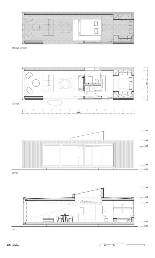 Lodge plans with text