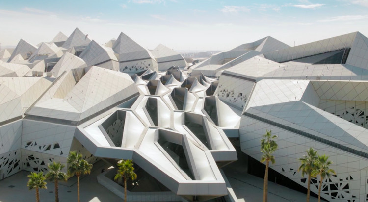 New Video Celebrates the Prismatic Complexity of Zaha Hadid Architects' KAPSARC in Saudi Arabia, Video still image. Image Courtesy of Hans Georg Esch
