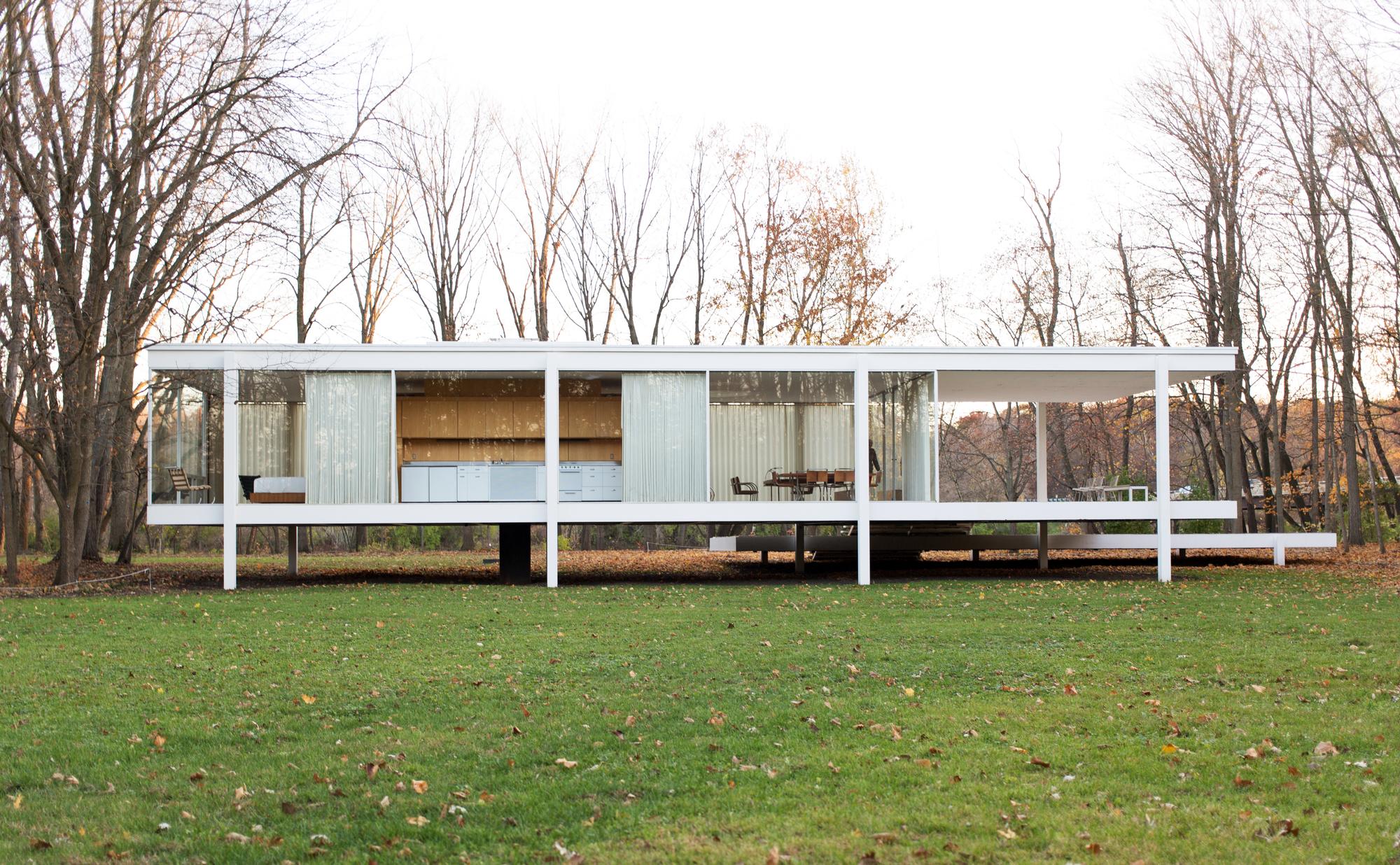 Galeria de tutorial de revit ensina a desenhar a casa for Casa minimalista de mies van der rohe