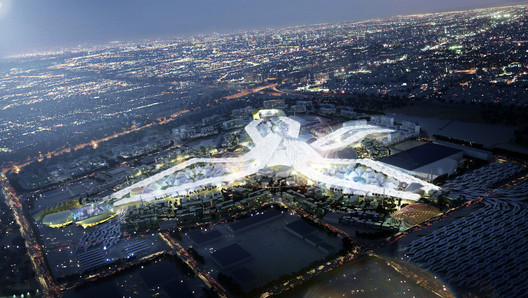 Pictured here, the masterplan for the World Expo 2020 Dubai designed by HOK. Image via HOK
