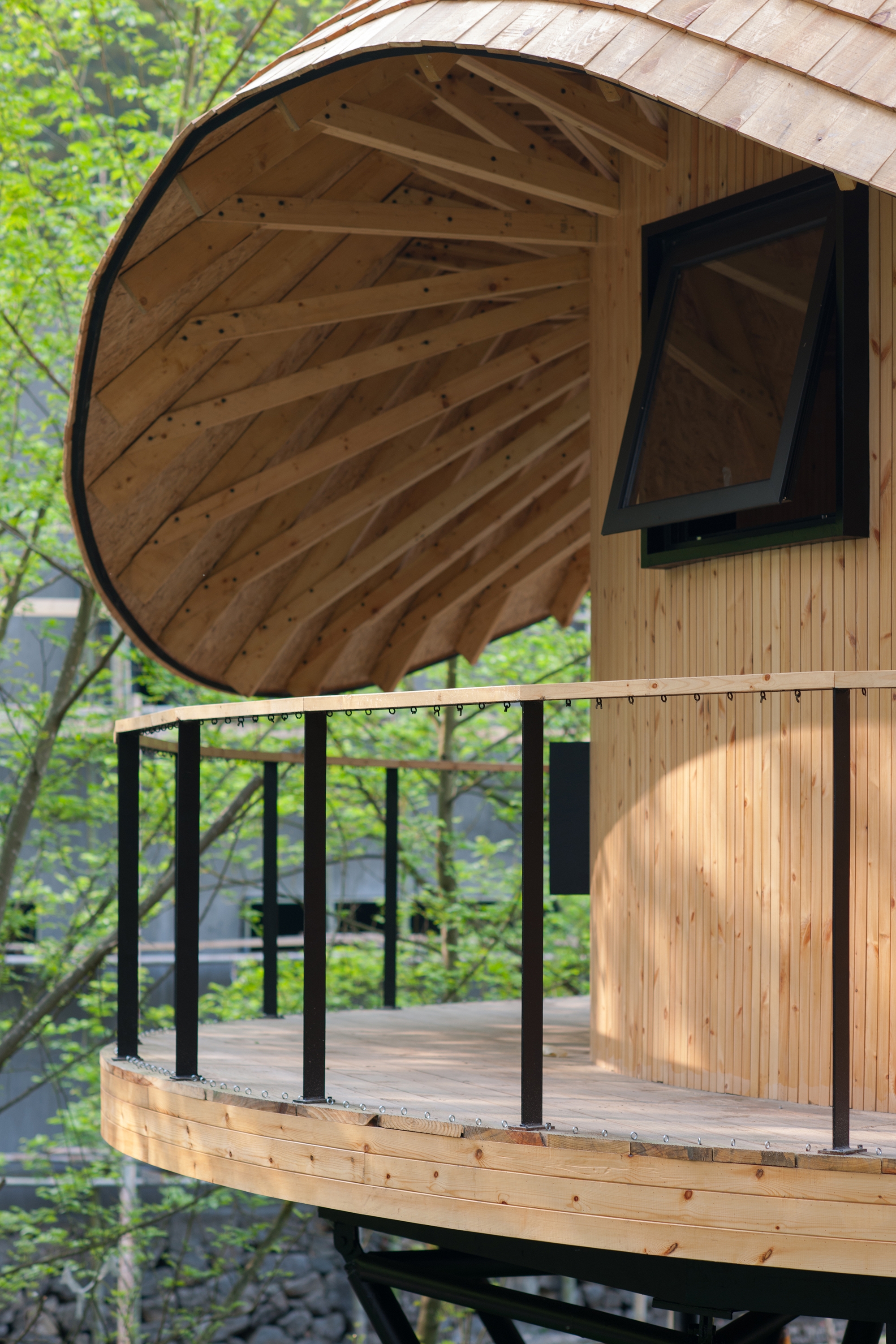Gallery Of Treewow O A Tree House Of Curved Round Roof
