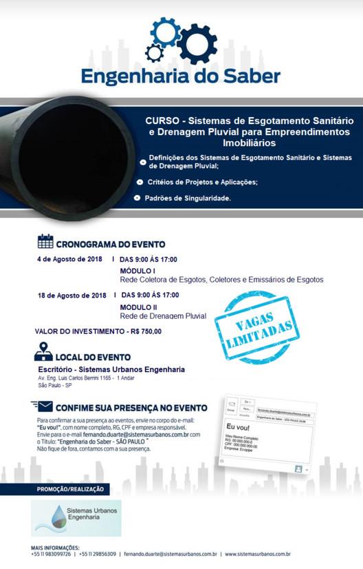 Sistemas de Infra Estrutura para Empreendimentos Imobiliários, Curso - Sistemas de Infra Estrutura para Empreendimentos Imobiliários