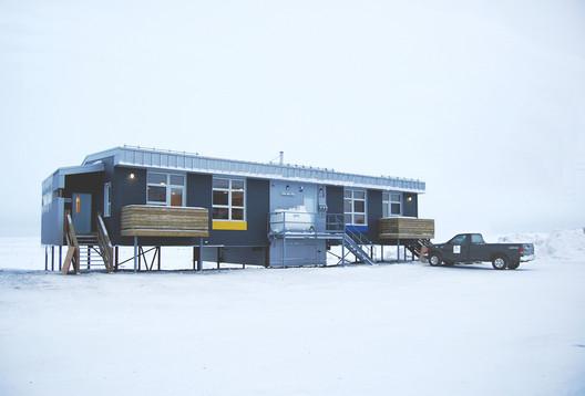 Nunavik Pilot Duplex Houses - Quaqtaq Inuit Community, Nunavik, Quebec - Alain Fournier, FIRAC, EVOQ Architecture, Montreal, Quebec. Image © EVOQ Architecture