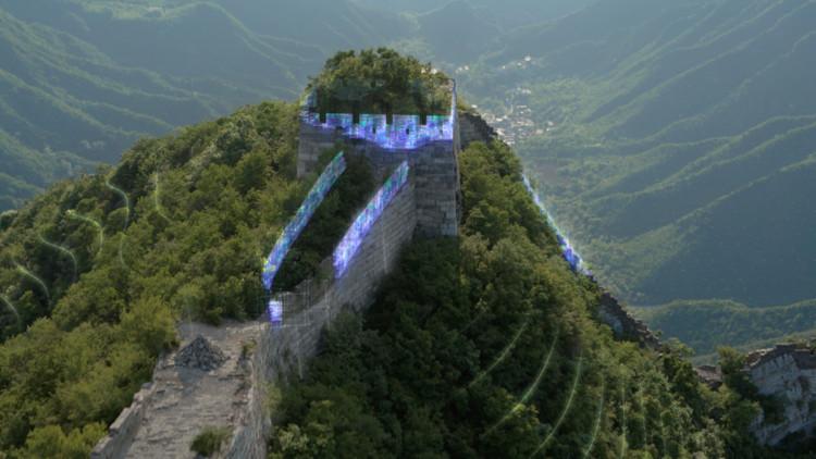 Intel usa tecnologia de ponta em projeto de preservação da Muralha da China, Screenshot do vídeo da Intel