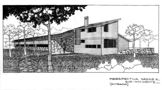 Casa de la familia Miranda: perspectiva. Revista Trama, Edición #135. Image Cortesía de Revista Trama