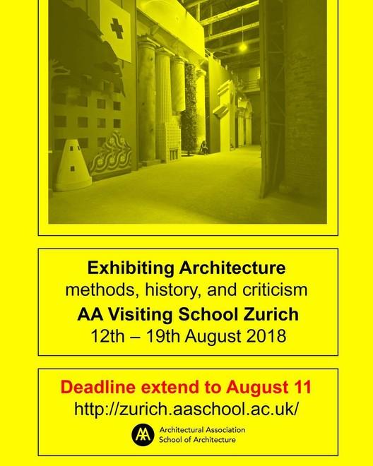 Exhibiting Architecture - AA Visiting School Zurich