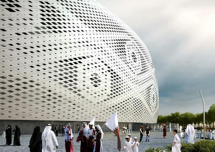Conheça os 8 estádios da Copa do Mundo no Qatar 2022, Estádio Al Thumama, projetado por Ibrahim Maidah, explora história, simbolismo e cultura do Catar. Cortesia do Comitê de Execução e Legado