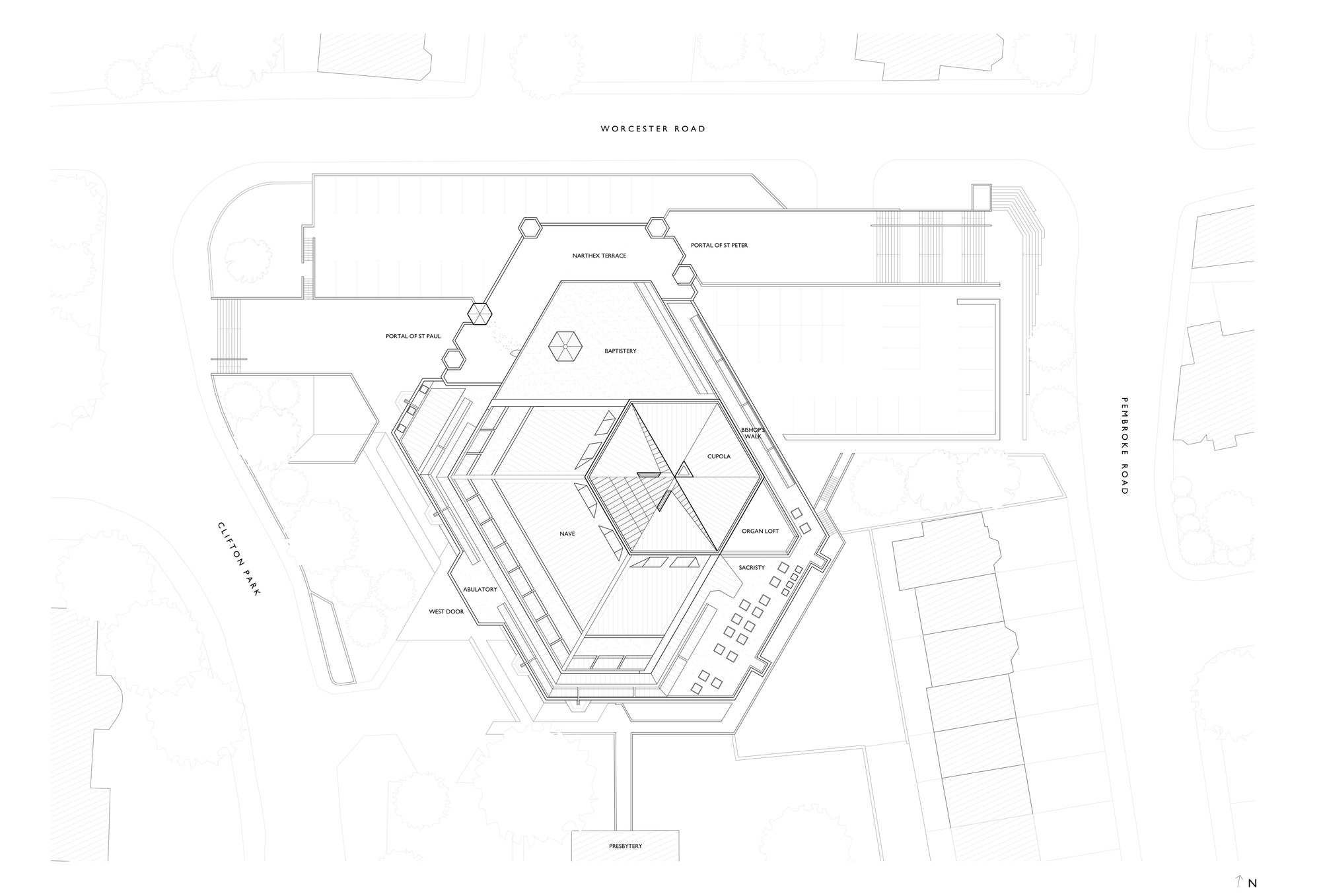 Gallery Of Clifton Cathedral Purcell 20 Cupola Schematic Zoom Image View Original Size