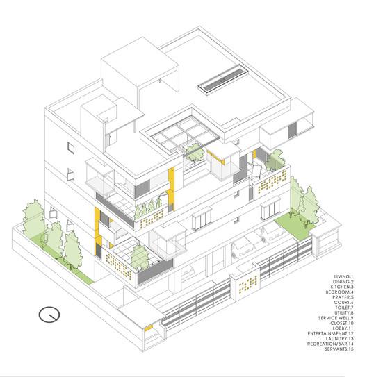 Axonometric Roof