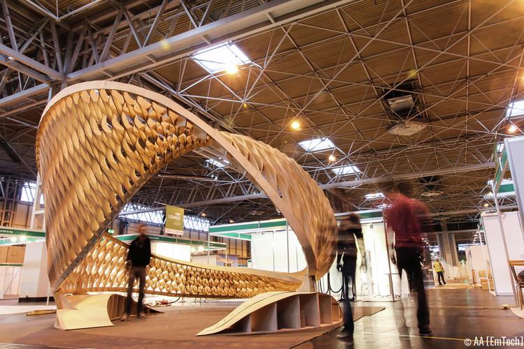 The TWIST installation at Timber Expo, Birmingham NEC.. Image © Patrick Tanhuanco