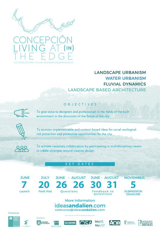Concepción. Living at(in) the Edge. The Andalien river fluvial restoration & urban design, POSTER. Credits:  FONDART ANDALIEN 2018 Organization Committee