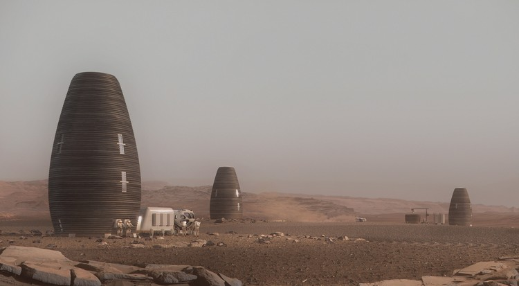 NASA Endorses AI SpaceFactory's Vision for 3D Printed Huts on Mars, Marsha could be grouped into small clusters. Image Courtesy of Plompmozes