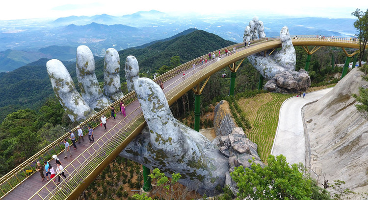 "Vietnam's Daring Golden Bridge Takes a ""Hands-On"" Approach to Tourism, via News Examiner"