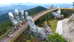 "Vietnam's Daring Golden Bridge Takes a ""Hands-On"" Approach to Tourism"