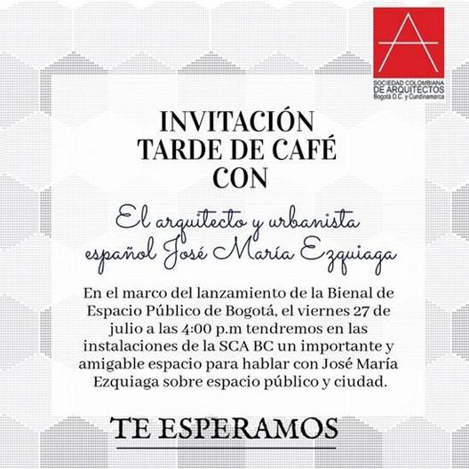 Tarde de Café con el arquitecto español José María Ezquiaga