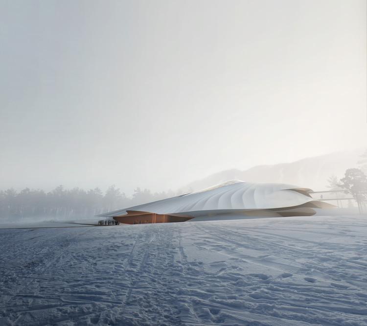 Centro de Conferências Yabuli do MAD Architects começa a ser construído na China, © MIR
