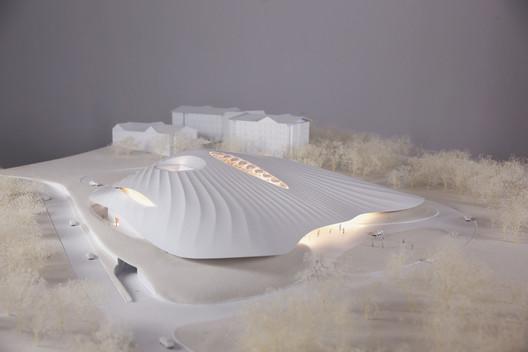 Design model. Image Courtesy of MAD Architects