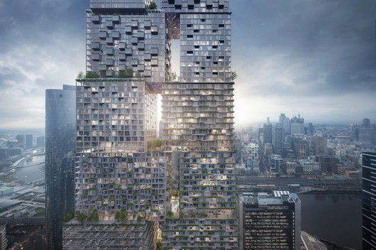 The Lanescraper. Image Courtesy of BIG – Bjarke Ingels Group / Fender Katsalidis Architects