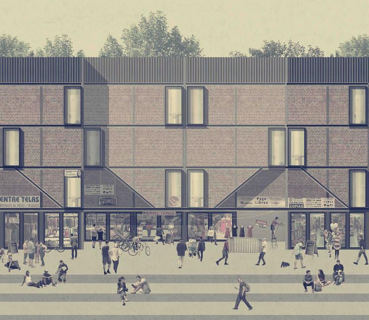 Vivienda de uso mixto, uno de los 10 ganadores del Concurso Arquitectura Caliente 2018 en proyectos de título, Cortesía de Arquitectura Caliente