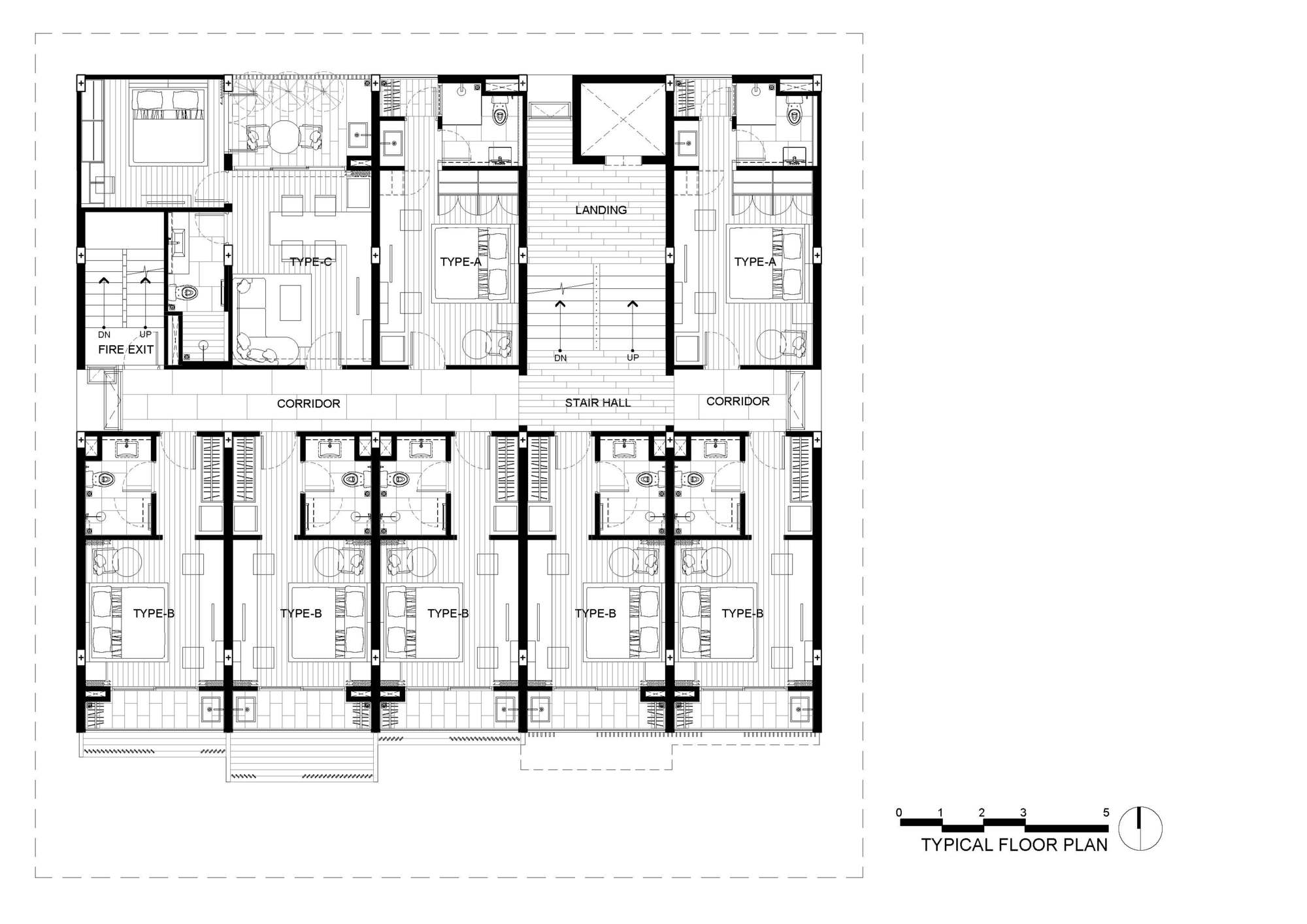 Gallery Of Hachi Serviced Apartment Octane Architect Design 47