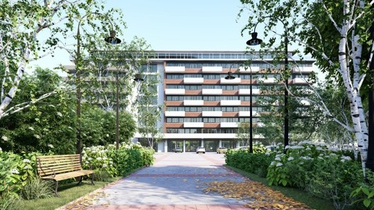 Front of the Westpoint Apeldoorn Project. Image Courtesy of Lumion