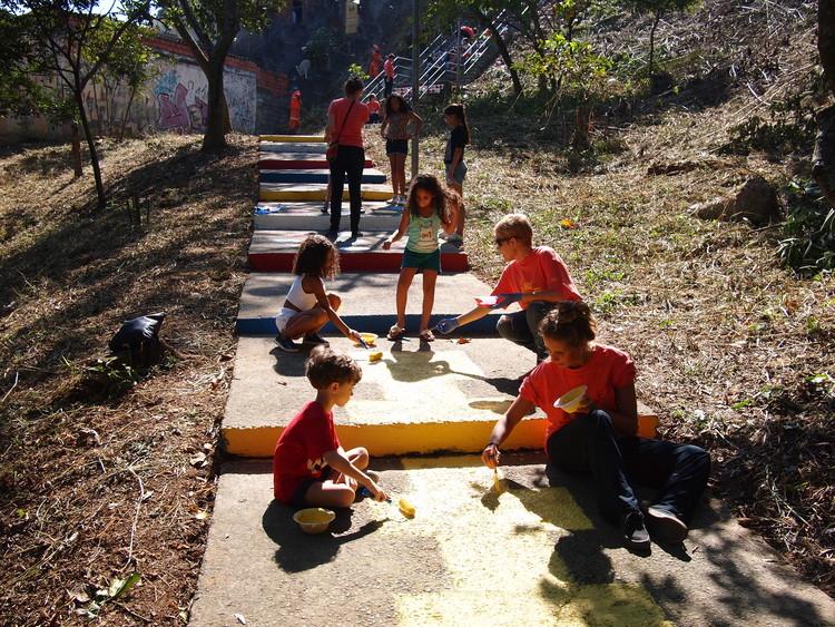 O espaço público como objeto de transformação social, Olhe o Degrau Ermelino Matarazzo.. Image © Cidade Ativa