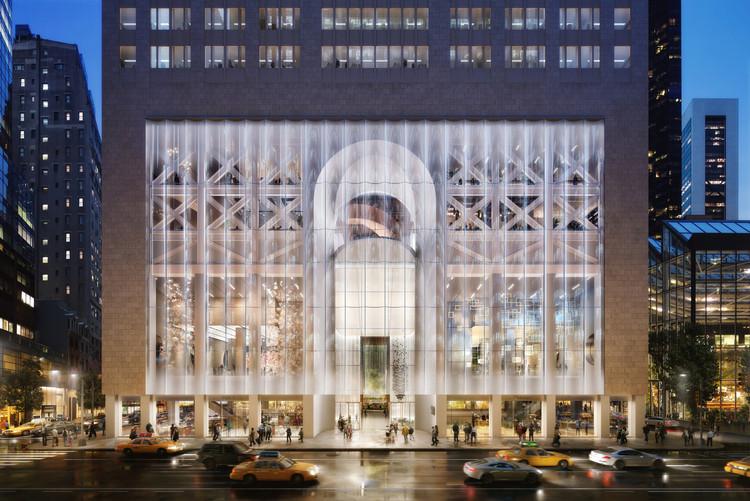 Departamento de preservação de Nova Iorque paralisa projeto de reforma do AT&T proposto pelo Snøhetta , Proposta de alteração Image Courtesy of DBOX