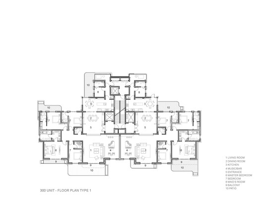 300 Unit Floor Plan Type 1