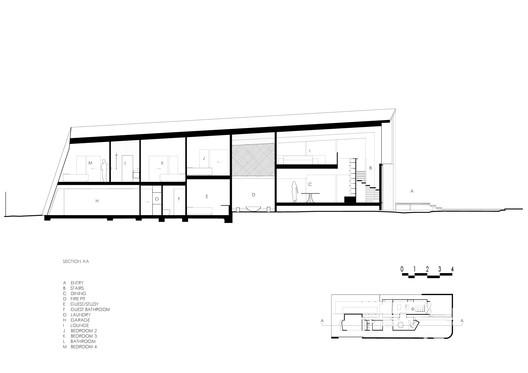 Longitudinal Section / Bedroom
