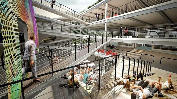 Transformar estacionamentos em habitações, o grande desafio para as novas gerações, © Gensler via LA Times