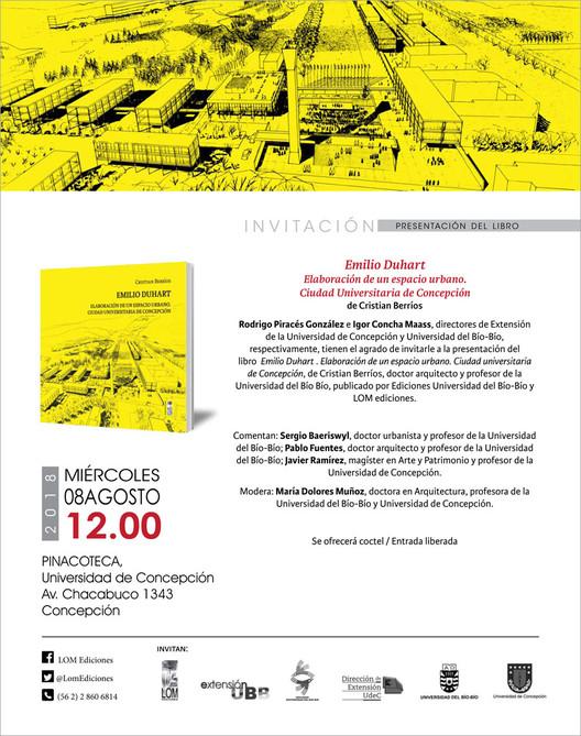 """Presentación del libro """"Emilio Duhart. Elaboración de un espacio urbano moderno: Ciudad Universitaria de Concepción"""", LOM Ediciones"""