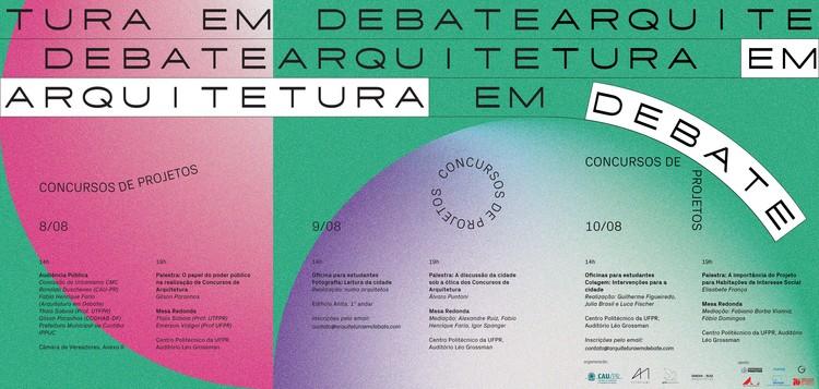 Arquitetura em debate: Concursos de projeto, cartaz do evento