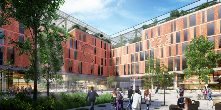 Carlo Ratti Associati's Proposed Milan Science Campus Features Robotically-Assembled Brick Facades, Courtesy of Carlo Ratti Associati